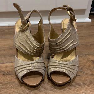 Seychelles gold sandals